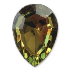 13mm x 18mm Olive Teardrop Shape Acrylic Embellishment Gems
